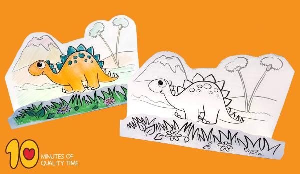 stegosaurus template printable