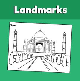 Taj Mahal Coloring Page