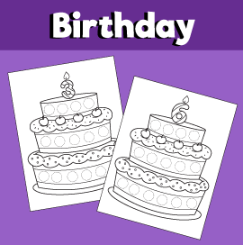 Birthday Cake Do a Dot Printables