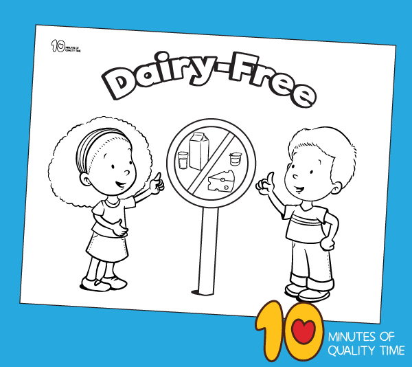 dairy free classroom sign