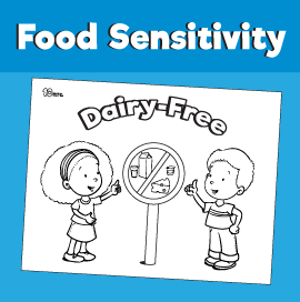Food Sensitivity Coloring Pages - Dairy-Free