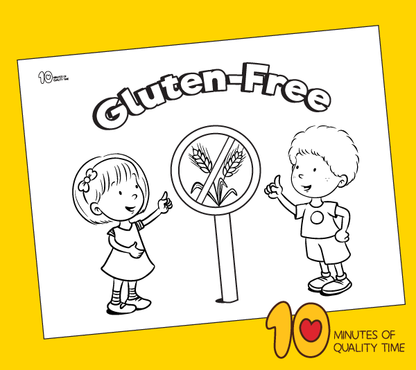 gluten free coloring page