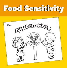 Food Sensitivity Coloring Pages - Gluten-Free