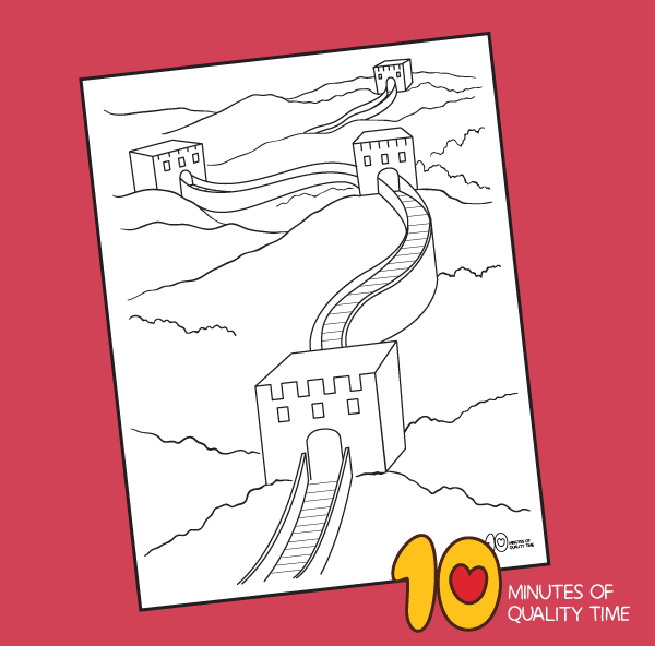 great wall of china coloring sheet
