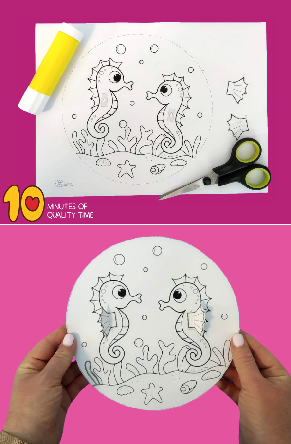 seahorse craft template