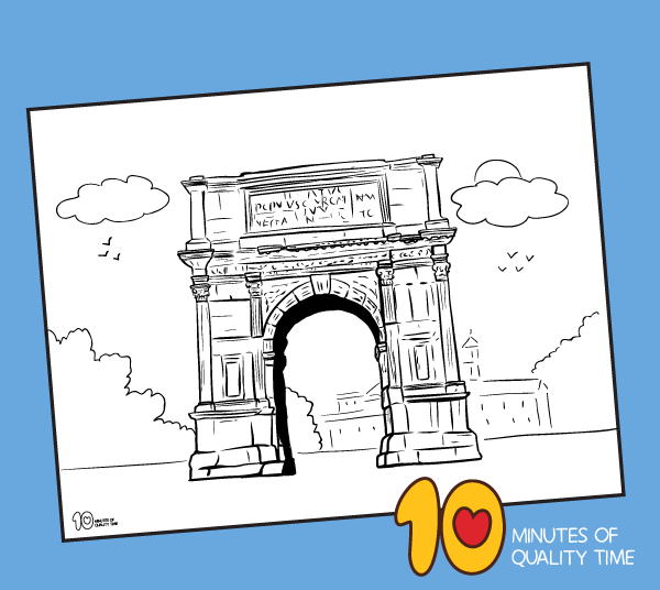 titus arch coloring page