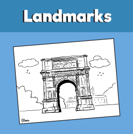 Arch of Titus Coloring Page