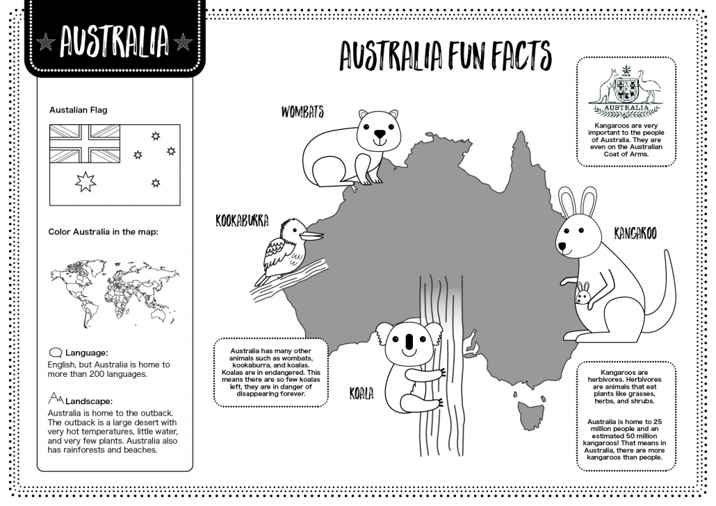 Australia – Free Lesson Plan And Worksheets – 10 Minutes Of Quality Time