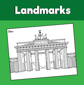 Brandenburg Gate Coloring Page