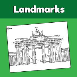 Brandenburg Gate Coloring Page
