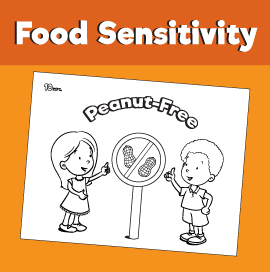 Food Sensitivity Coloring Pages - Peanut-Free