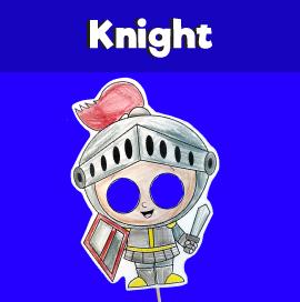 Knight Paper Mask