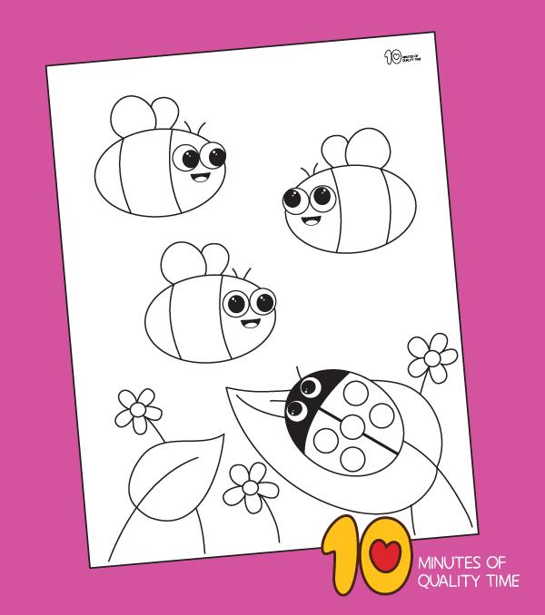 bee coloring sheets