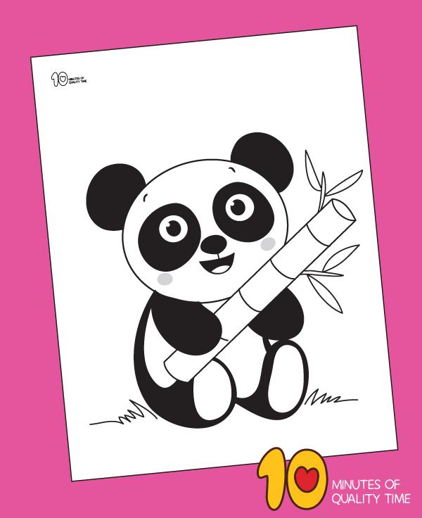 panda bear coloring sheets