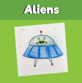 Alien in a Spaceship 3D Craft