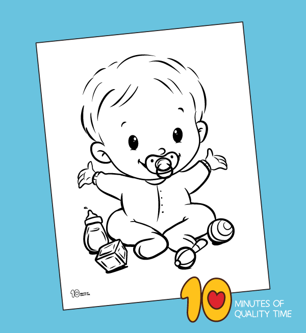 - Baby Coloring Page – 10 Minutes Of Quality Time