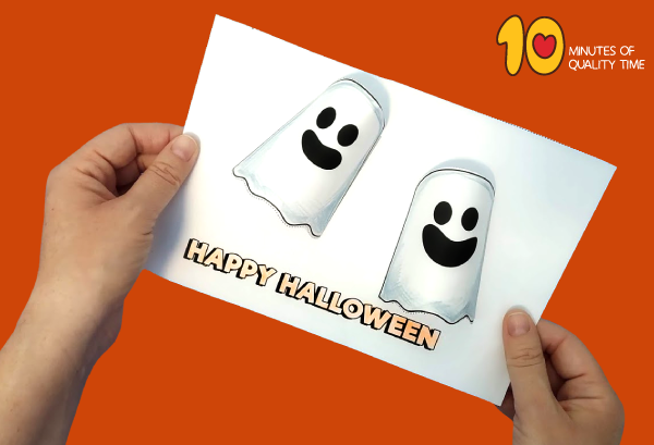 halloween ghost paper crafts