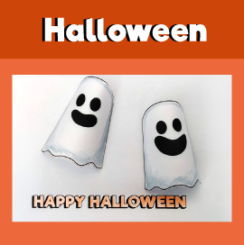 3D Halloween Ghost Paper Craft