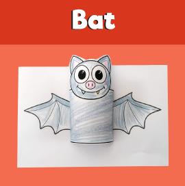 3D Paper Halloween Bat