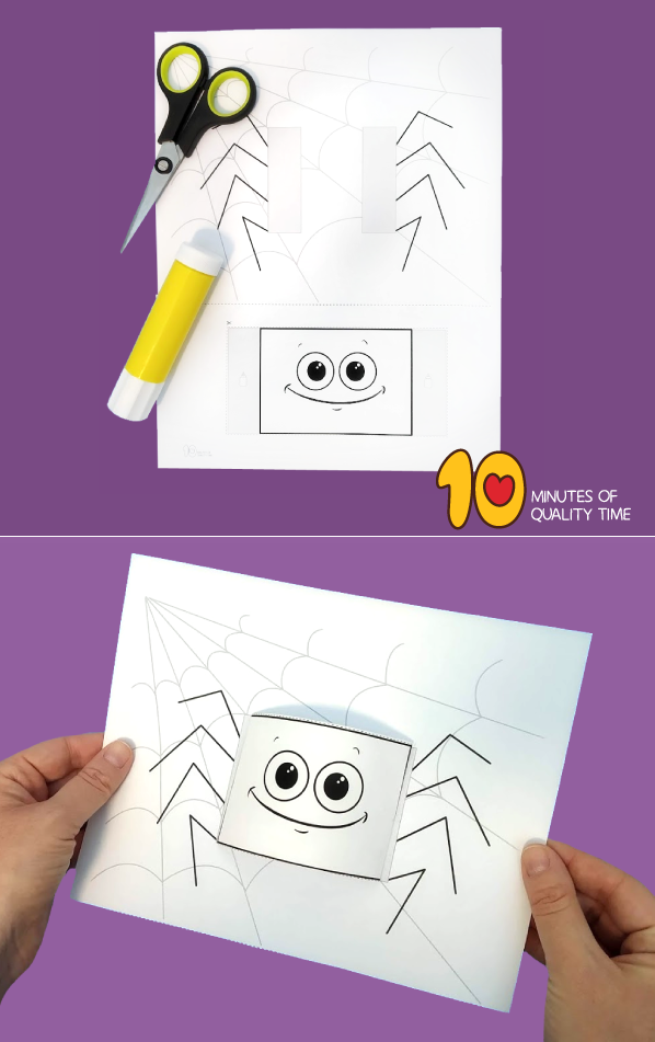 spider craft template