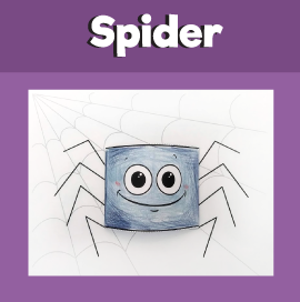 Paper Spider 3D Craft‏