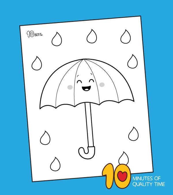 umbrella coloring sheets