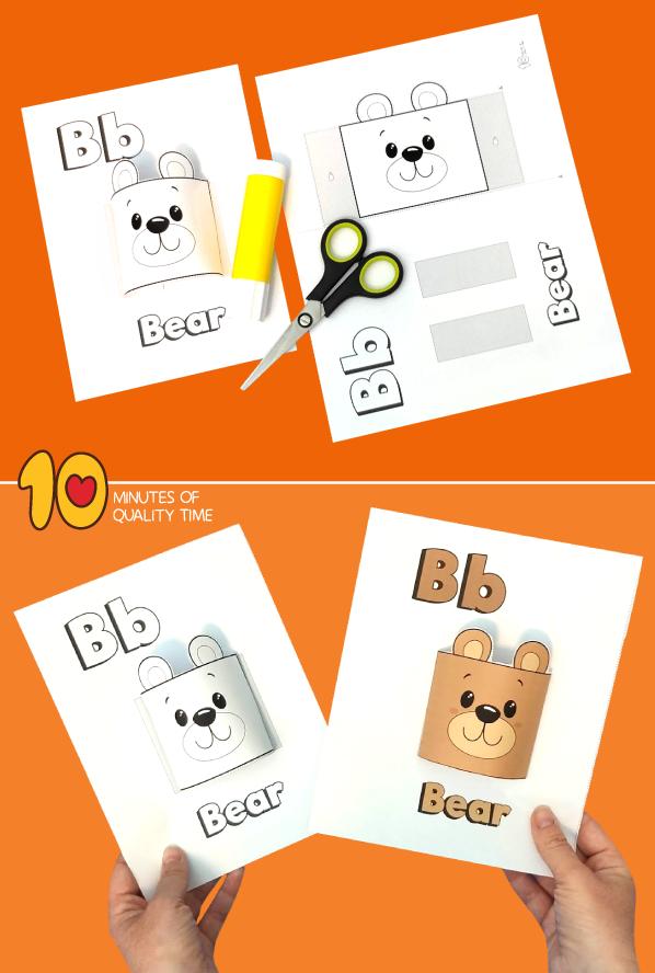 bear craft template