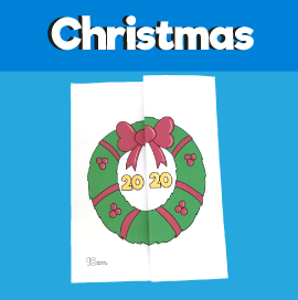 Christmas Wreath 2020 Card