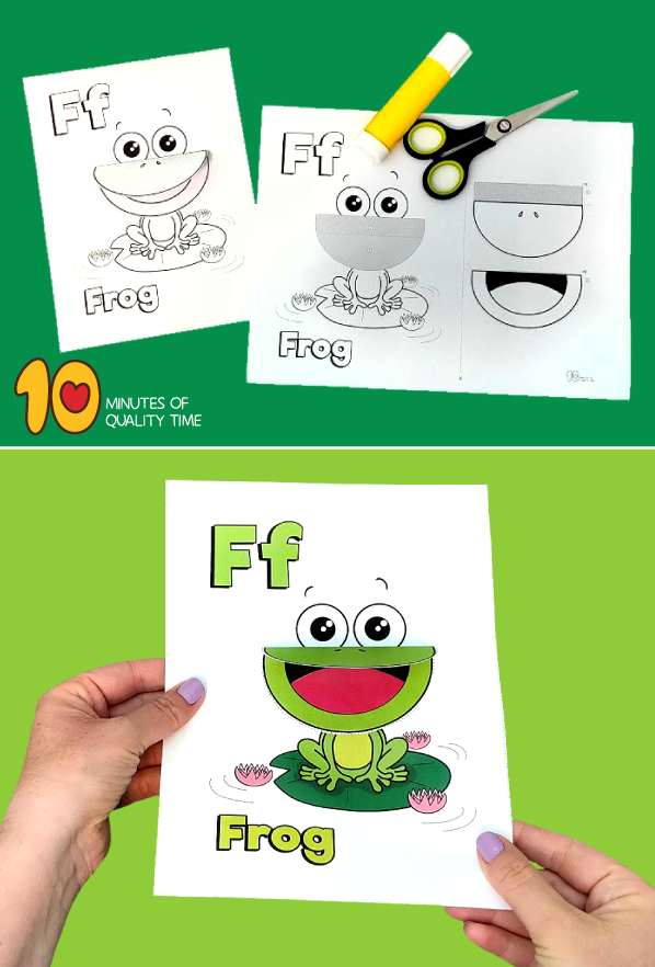 frog craft preschool