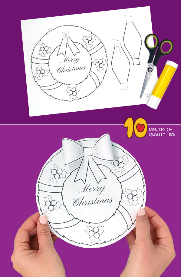 christmas wreath craft template