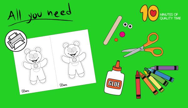 teddy bear puppet craft