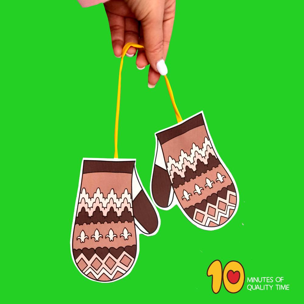 mittens craft template