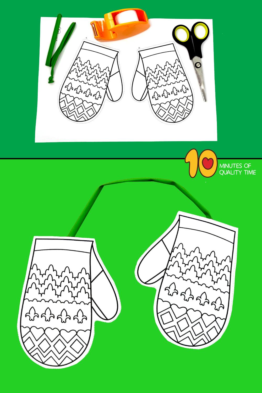 winter mittens craft