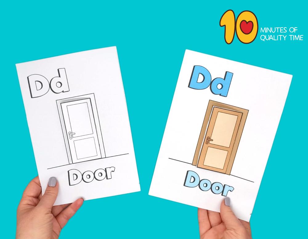 letter d craft template