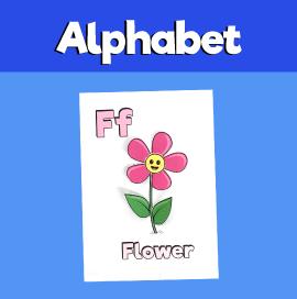 Letter F 3D Craft