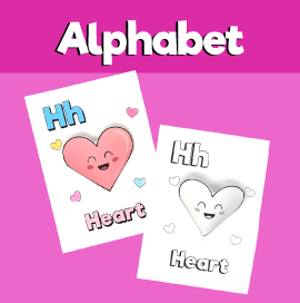 Letter H 3D Craft
