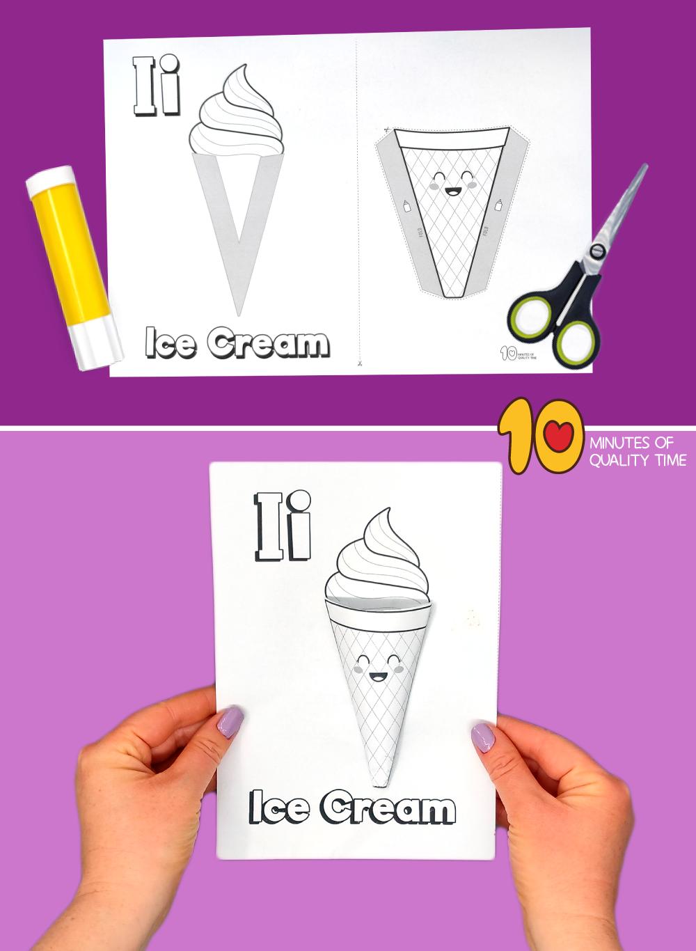 letter i craft printable