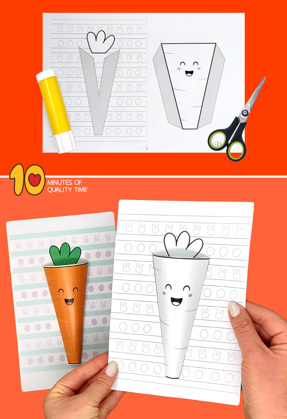 carrot easter craft