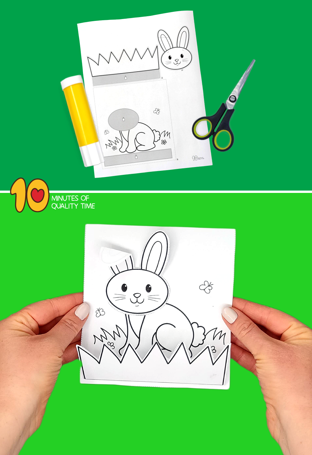 easter bunny craft template