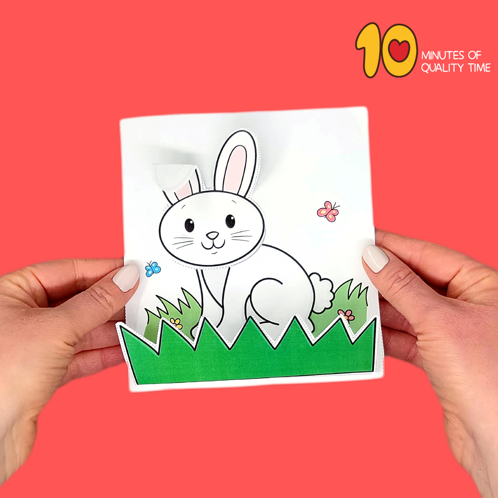 easter bunny cutting activity