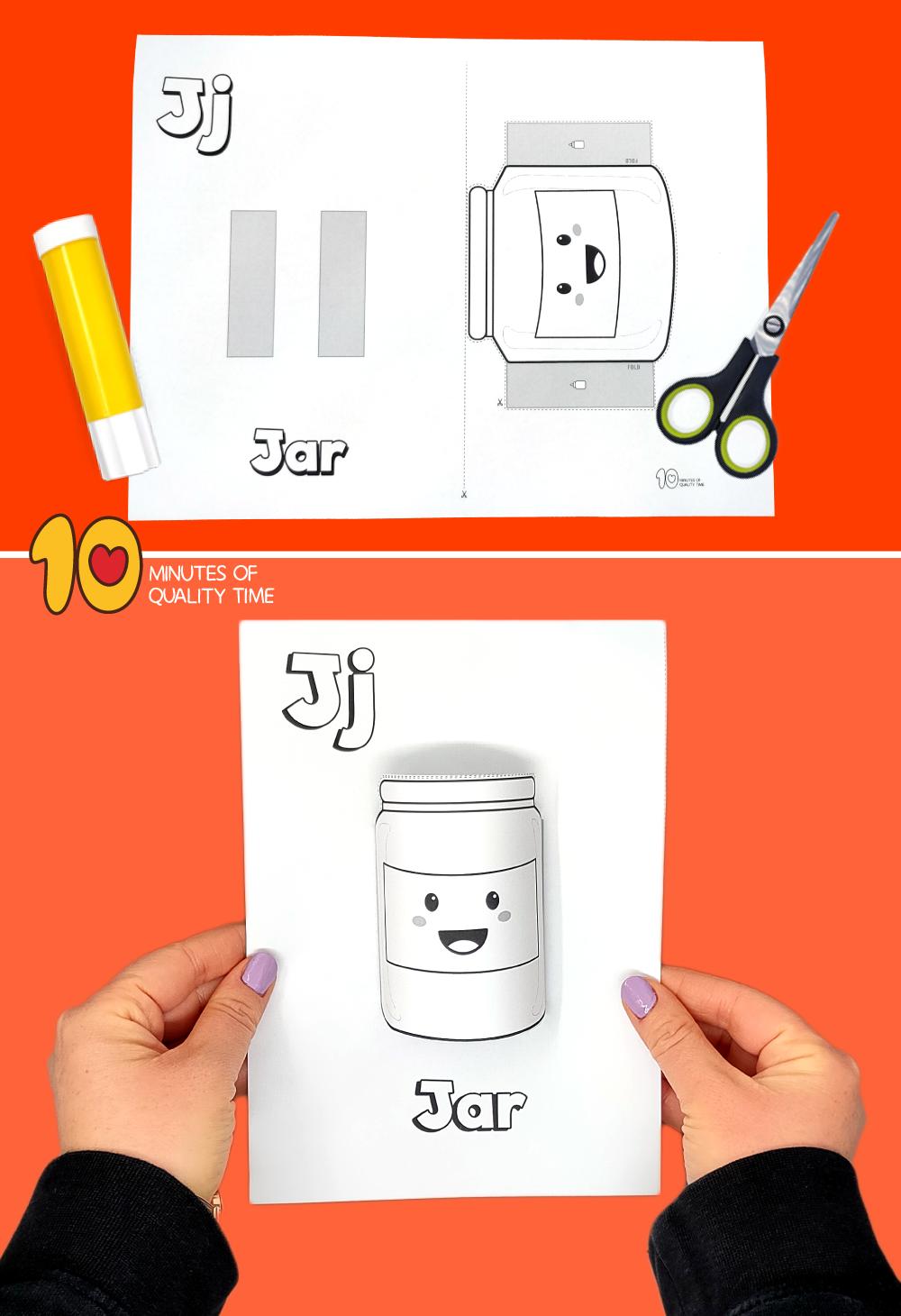 letter j craft printable
