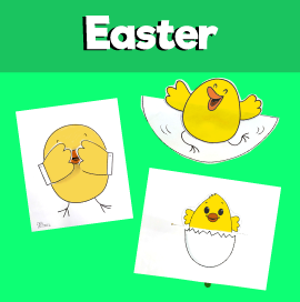 Pack of 3 Easter Chick Crafts