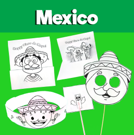 5 Printable Crafts for Cinco De Mayo