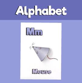 Letter M 3D Craft