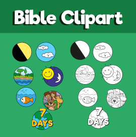 7 Days of Creation Clipart