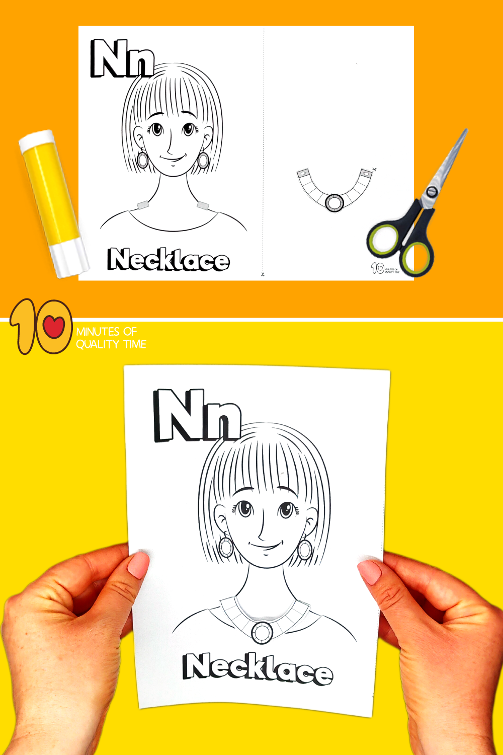 letter n craft template