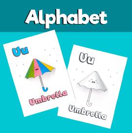 Letter U 3D Craft
