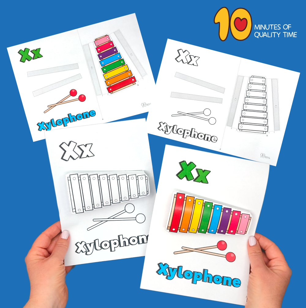 letter x craft printable