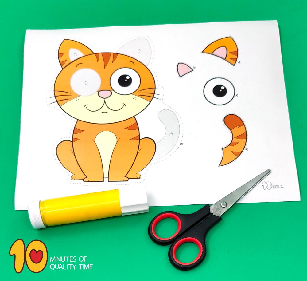 cat printable craft