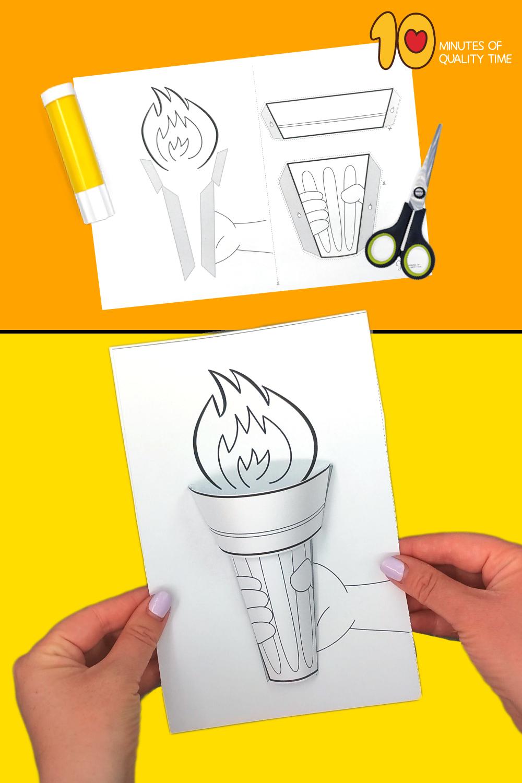 olympic torch craft ideas